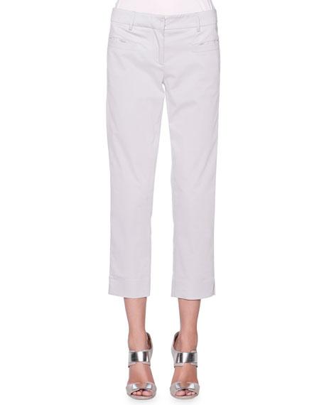 Stretch Twill Slim-Leg Pants