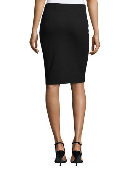 Milano Pique Knit Pencil Skirt