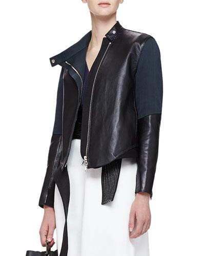 Judo Leather/Silk Asymmetric Jacket