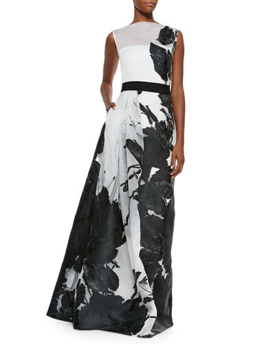 1 - Shop for St John Collection Dramatic Floral Fil Coupe Gown ...
