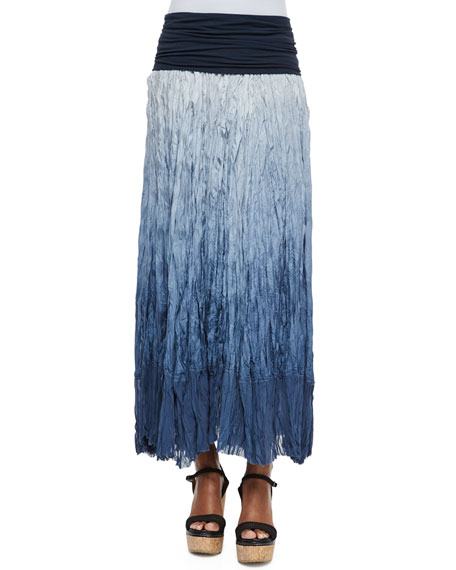 Donna Karan Dip Dye Broomstick Skirt