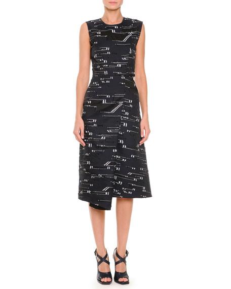 Jil Sander Asymmetric-Fold Slit-Back Fil Coupe Dress