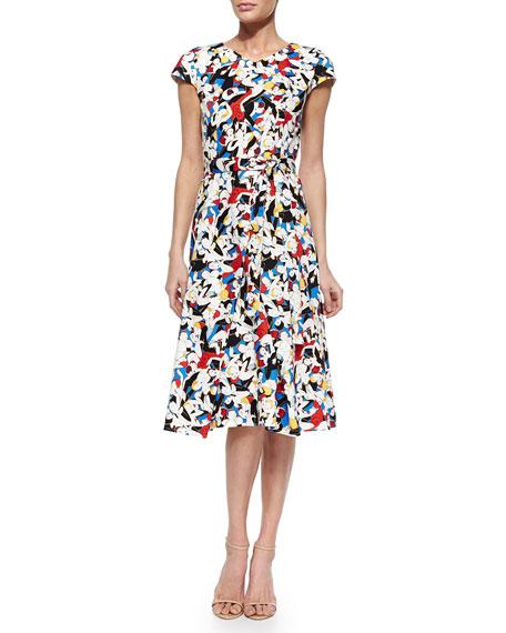 Carolina Herrera Tango Dancer-Print A-Line Dress