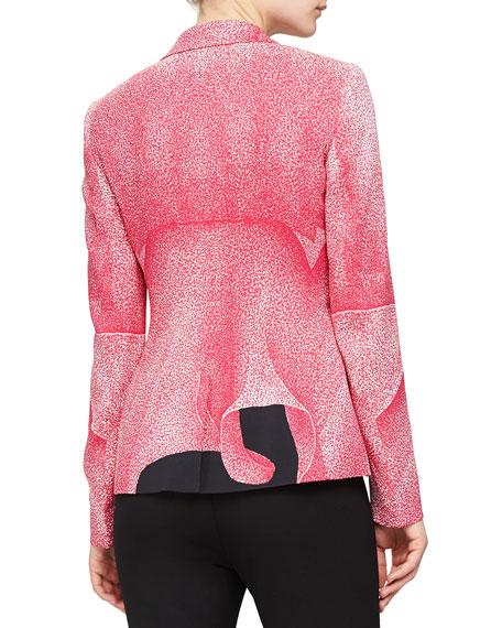 Thilo Westermann Floral-Print Blazer, Dark Pink