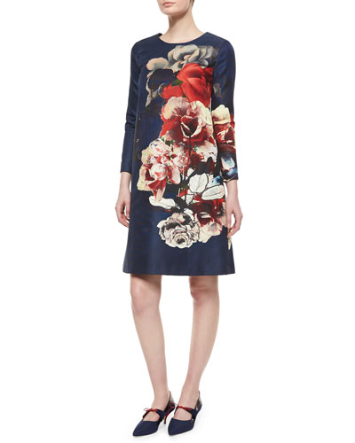 Floral Bouquet Shift Dress