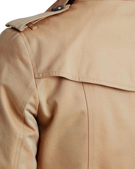 The Sandringham - Mid-Length Slim Fit Heritage Trench Coat, Honey