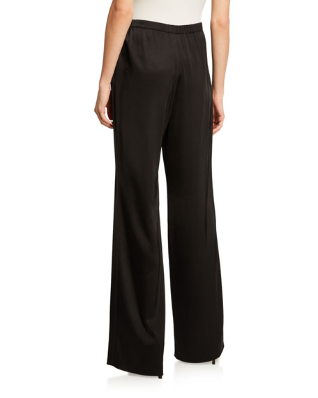 Kate Satin Wide-Leg Pants