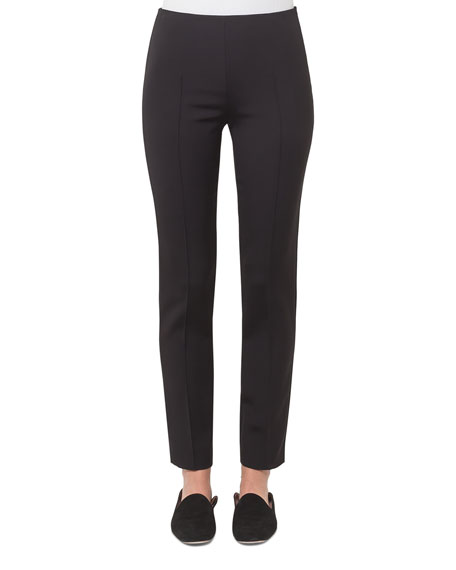 Akris Melissa Techno Cotton Pants, Black