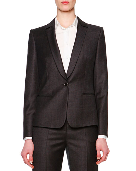 Giorgio Armani Mini-Houndstooth Single-Button Jacket