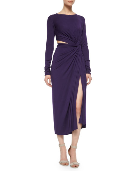 Donna Karan Cool Jersey Twisted Cutout Dress
