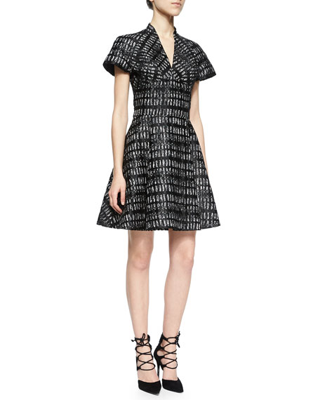 Rubin Singer Lace-Overlay V-Neck Dress