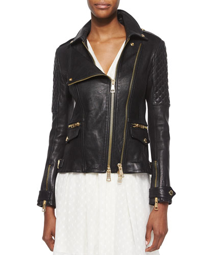 Lamb Leather Biker Jacket