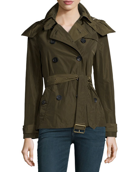 Burberry Brit Balmoral Cropped Double-Breasted Trench Coat