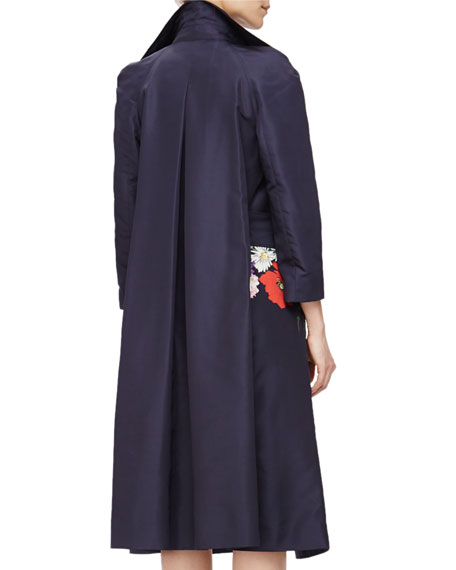 Floral-Print Gazar Trenchcoat