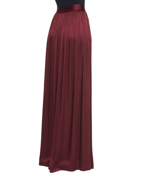 Liquid Crepe Gown Skirt with Pockets
