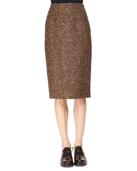 Michael Kors Collection Tweed Slim Pencil Skirt