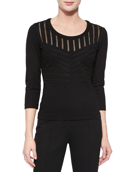 Escada Art Nouveau Dondi Top, Black