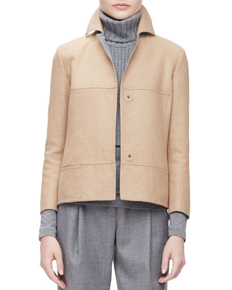 Akris punto BOXY JACKET FAUX DBL FACE