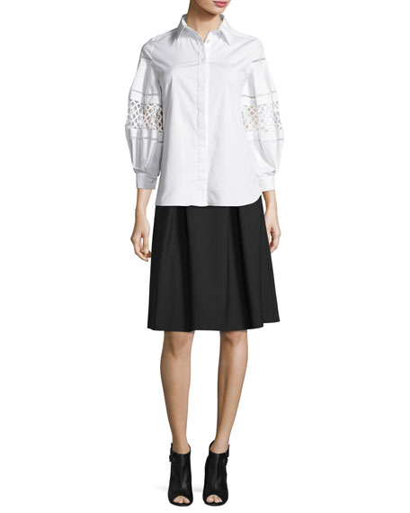 Double-Faced Box-Pleated Party Skirt
