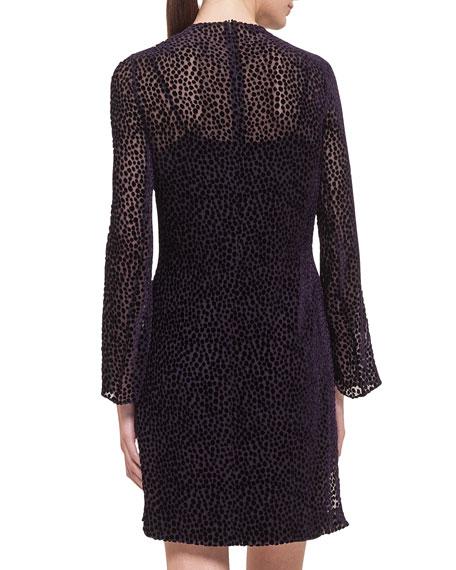 Akris Velvet Dotted Devore Dress