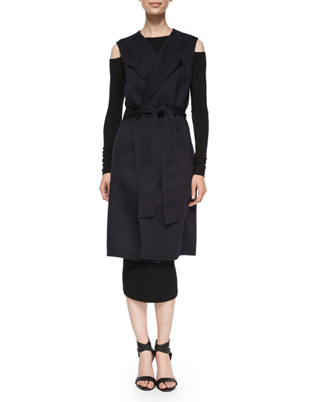 Donna Karan 3-in-1 Trench/Vest/Jacket, Black