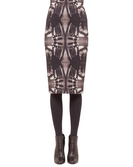Akris punto Handprint Midi Pencil Skirt