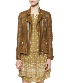 Broadwill Leather Biker Jacket