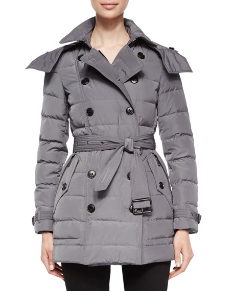 Allerdale Belted Puffer Coat W/ Removable Fur-Trim Hood