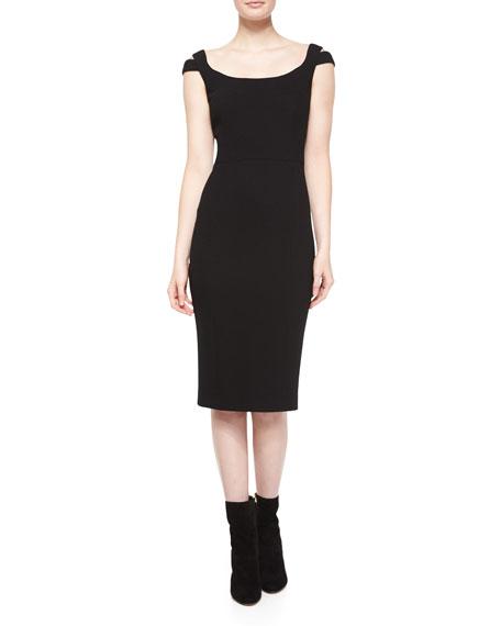 Michael Kors Collection Off-The-Shoulder Sheath Dress, Black