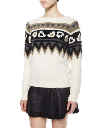 Wool/Cashmere Fair Isle Sweater