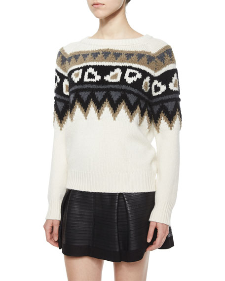 Burberry Brit Wool/Cashmere Fair Isle Sweater | Neiman Marcus