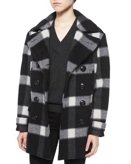 PLAID WOOL WELTFORD PEACOAT