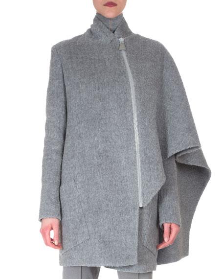 Akris Asymmetric Draped Cape Jacket