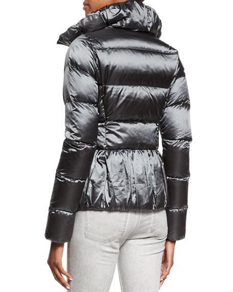 Water-Repellant Puffer Jacket, Slate