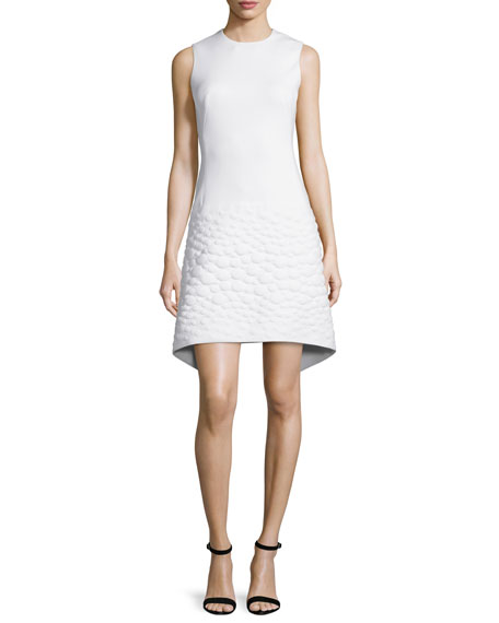 Akris Sleeveless Neoprene Apron Dress, Off White