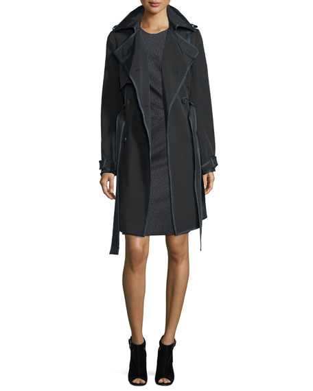 Lanvin Woven Double-Breasted Trenchcoat