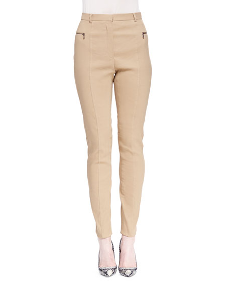 Lanvin Skinny Zip-Pocket Biker Pants