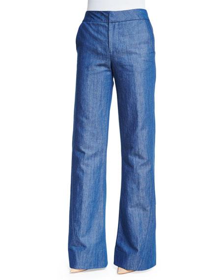 Co High-Waist Wide-Leg Jeans, Indigo