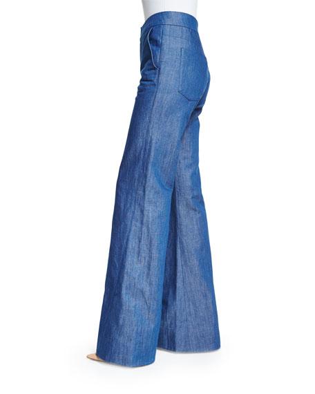 High-Waist Wide-Leg Jeans, Indigo
