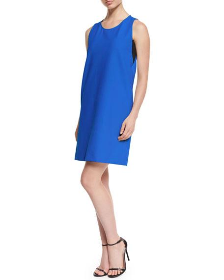 Armani Collezioni Sleeveless Scoop-Neck Shift Dress, Blue