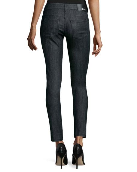 Low-Rise Skinny-Leg Jeans, Indigo