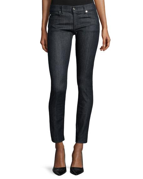 Armani CollezioniLow-Rise Skinny-Leg Jeans, Indigo