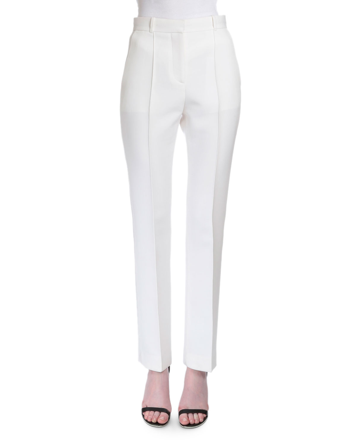 Givenchy Reversible-Seam Skinny Trousers, White
