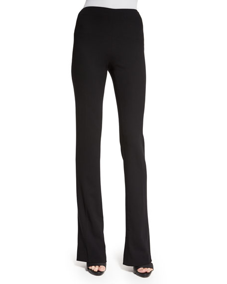 Ralph Lauren Collection High-Waist Boot-Cut Pants, Black