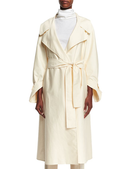 THE ROW Harding Water-Repellent Coat, Pearl