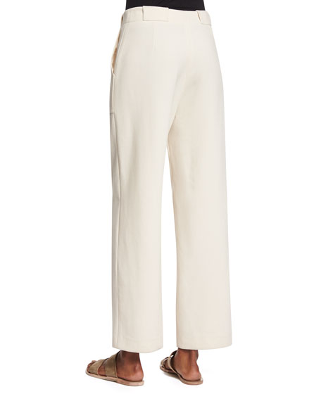 High Roller Wide-Leg Pants - Cream. Availability: In stock. $ You will earn 34 Points for purchasing this product. Details. Size Chart. POSHSHOP EXCLUSIVE. For a look that lingers, opt for this pair of stretch knit trousers featuring a high-waisted cut, seamed accents, side pockets, and a wide-leg .