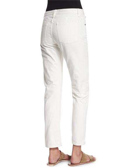 Ashland Slim-Leg Ankle Jeans, White