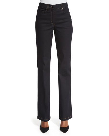 Escada High-Waist Flare-Leg Jeans, Denim
