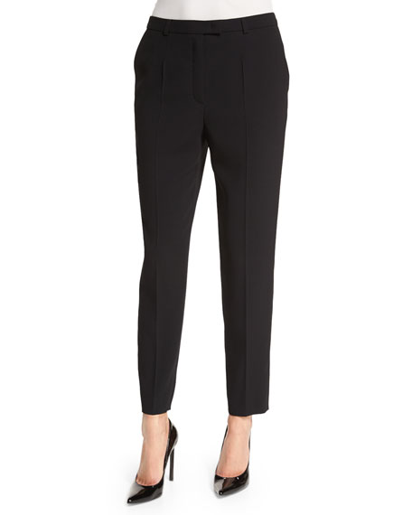 Escada Talarant Slim-Leg Ankle Pants, Black