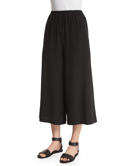 eskandar Flare-Leg Cropped Trousers, Black